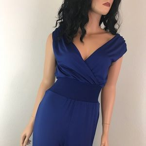 Bebe Womens Romper Jumpsuit Size Medium Blue